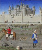 Stundenbuch Herzog von Berry 1416 Oktober
