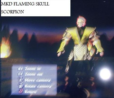 MKD FLAMING SKULL SCORPION
