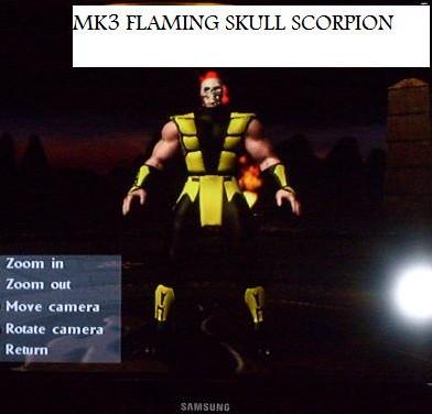 MK3 FLAMING SKULL SCORPION