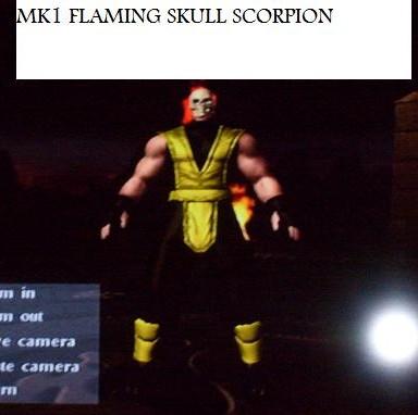 MK1 FLAMING SKULL SCORPION