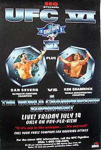 UFC 6 event poster
