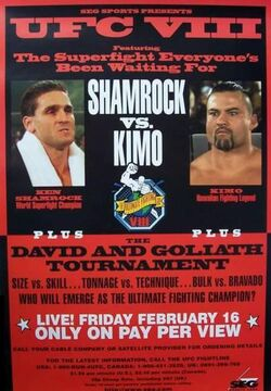 UFC 8 event poster
