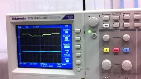 5th run oscilloscope
