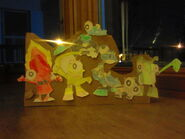 Mixel group papercraft by theyoshistate-d8pr5t1