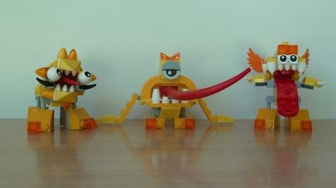 LEGO MIXELS SERIE 5 Lixers Tribe Spugg Turg Tungster Lixers Max