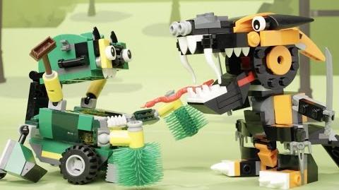 Nindjas vs. Trashoz - LEGO Mixels - Stop Motion