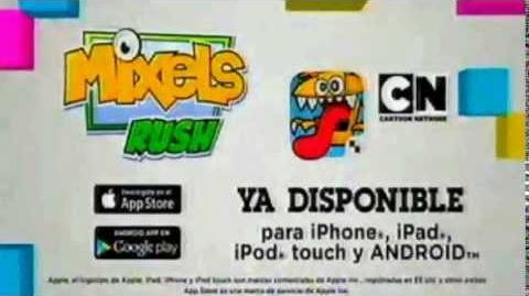 "Cartoon network LA CN Movil ""Mixels Rush"" Aplicativo"