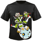 Orbitons on space black shirt