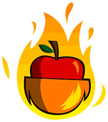 Flamingcoconapple