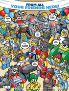 From all your friends here LEGO Club Green Brick Magazine Ending