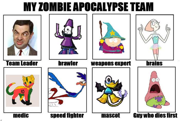 My Zombie Apocolyse Team