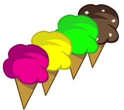 4 flavoured Ice cream