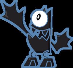 One-eyed bat
