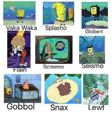 Spongebob Comparison Mixels