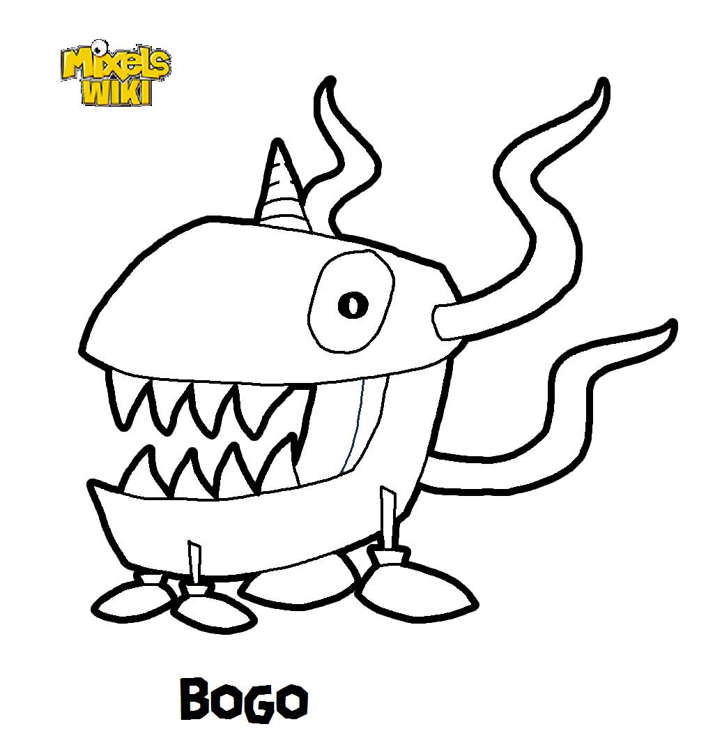 Mixels Coloring Pages Image  Bogo Coloring Book  Mixels Wiki  Fandom Poweredwikia