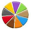 Mixels Color Wheel (as seen on Mixels.com)-vector