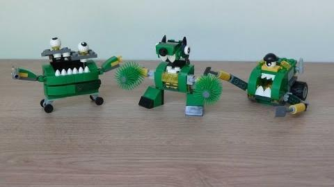 LEGO MIXELS SERIES 9 TRASHOZ Gobbol Sweepz Compax Trashoz MAX