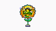 The sunflower eats Mixels