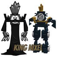 King Nixel cartoon and LEGO form