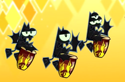 Bats Playing Drums