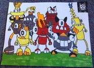 Mixels Series 1 group picture Derekis