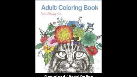 Download PDF Adult Coloring Book Stress Relieving Cats