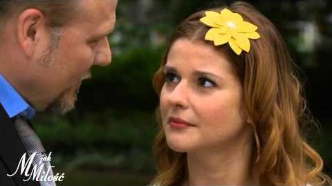 M jak Miłość - Pierwszy pocałunek - scena z odc. 1082