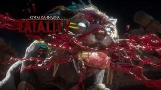 Mortal Kombat 11 Kotal kahn cat food fatality
