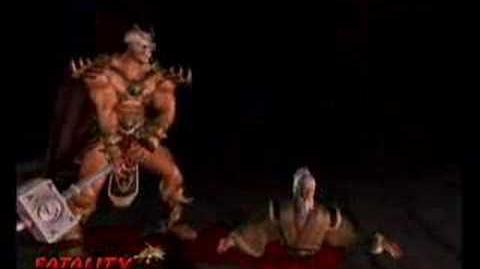 Mortal Kombat Deception Shao Kahn Fatality (2)