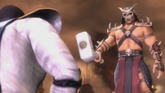 Shao Kahn tells Raiden that Earthrealm will be destroyed
