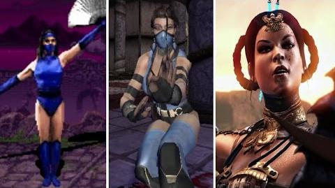 Kitana All Victory Poses - MK2 to MKX