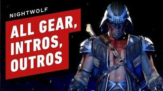 Mortal Kombat 11 - Nightwolf All Gear, Skins, Intros and Outros