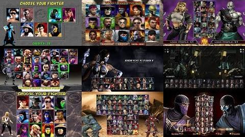 Mortal Kombat Select Screen Evolution MK1 to MKX Update-0