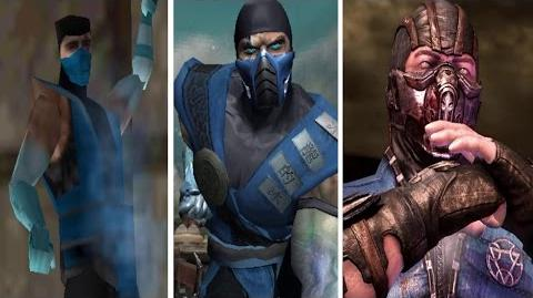 Sub-Zero All Victory Poses - MK1 to MKX