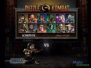 Puzzle Kombat Character Select