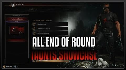 Mortal kombat 11 Terminator All Unlockable Taunts Showcase