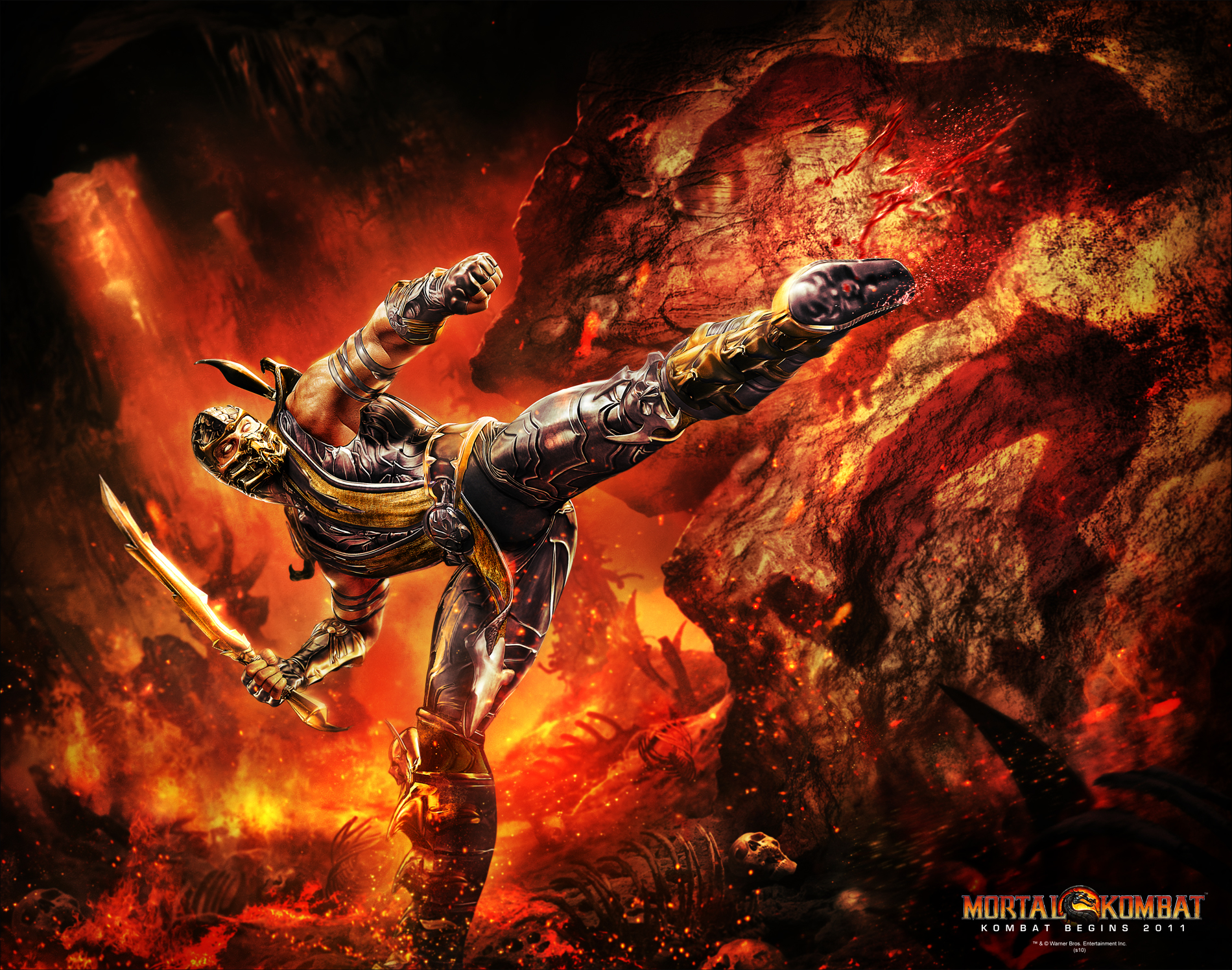 image - scorpion wallpaper | mortal kombat wiki | fandom powered