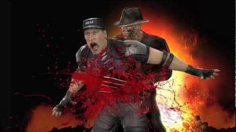 Freddy Kruger LIVES ! Mortal Kombat 9 - Freddy character vignette -HD- OFFICIAL Trailer MK9 (2011)
