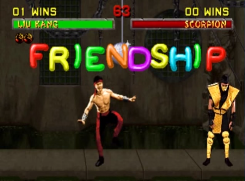 Image result for liu kang friendship gif
