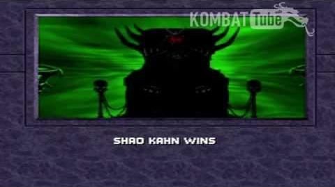 MK III Ending- SHAO KAHN