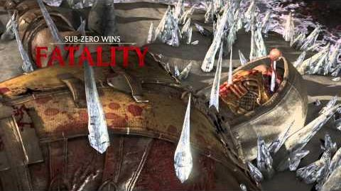 MKX Sub Zero Bed Of Ice Fatality
