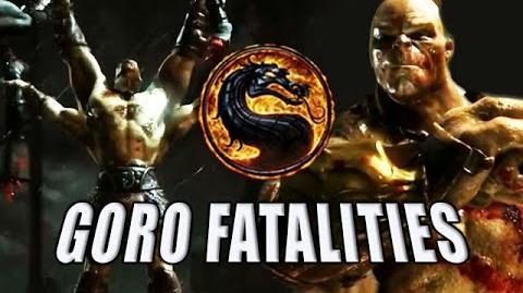 GORO FATALITIES X-RAY & INTROS - Mortal Kombat X