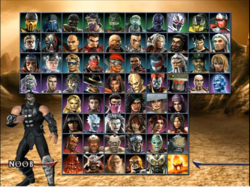 MKA Complete Character select screen on Wii