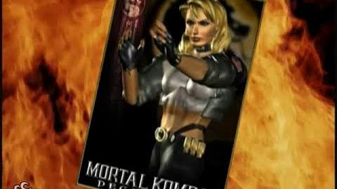 HQ Mortal Kombat Deception - Sonya Trading Card