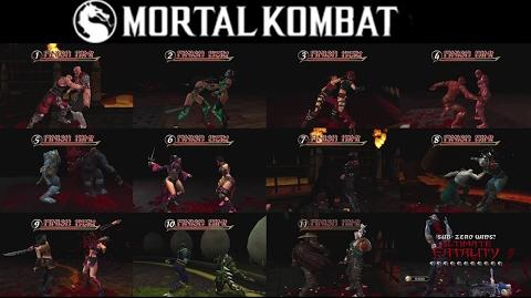 Video - Mortal Kombat Armageddon All Characters Performs