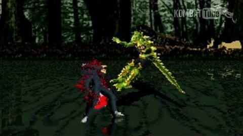 "GBA MK TE Reptile ""Acid Ball"" Fatality"
