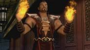 Shang Tsung opens a portal for the Tarkatan