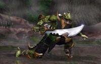 Reptile with his Kirehashi