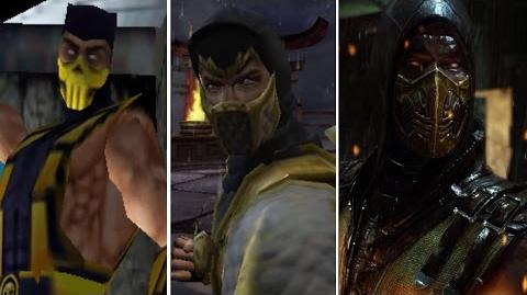 Scorpion All Victory Poses - MK1 to MKX (Injustice)