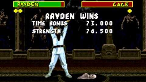 Mortal Kombat (1992) - SNES - Raiden - Fatality
